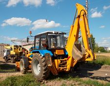 Excavator And Crane Stock Photos