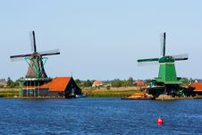 Mills In Holland Royalty Free Stock Photography