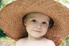 Free Straw Hat Royalty Free Stock Photos - 15176738