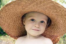 Free Straw Hat Royalty Free Stock Photos - 15176738