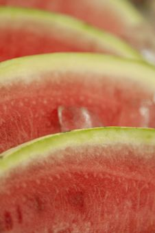 Free Closeup On Watermelon Slices In Ice At Market Stock Photography - 15176922