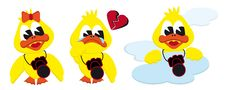 Free Girl Broken Heart And Cloud Ducks Stock Photos - 15177563