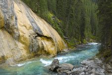 Free Flowing River Next To Red Rock Royalty Free Stock Photography - 15178007
