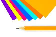 Free Multicolored Paper And Pencil Royalty Free Stock Photos - 15178228