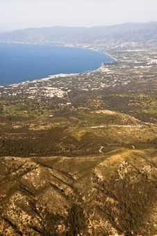 Aerial View Of A Beautiful Bay Royalty Free Stock Photo