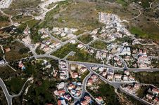 Aerial View Of Residential Area Royalty Free Stock Photography