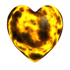 Free Burning Heart Stock Photo - 15178430