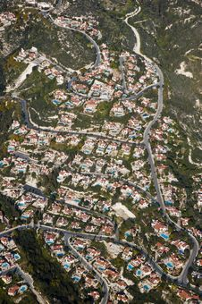 Free Aerial View Of Residential Area Royalty Free Stock Photos - 15178528