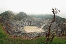 Tangkuban Perahu Volcano Royalty Free Stock Photo