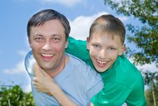 Father With His Son Royalty Free Stock Photo