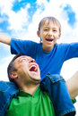 Free Happy Father With His Son Stock Photography - 15182902