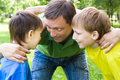 Free Dad Plays With Young Children Royalty Free Stock Photo - 15183335