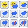 Free Weather Symbols Royalty Free Stock Image - 15183496