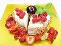 Free Strawberry Fruit Dessert With Raspberry Stock Image - 15185981