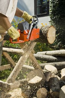 The Chainsaw Royalty Free Stock Images