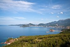Free Panorama Of Montenegro Coast Line Stock Image - 15180241