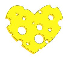 Free Cheese Heart Stock Images - 15181474
