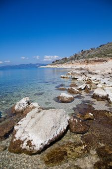 Greek Coastline Stock Photography