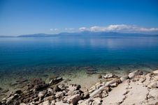 Greek Coastline Royalty Free Stock Photo