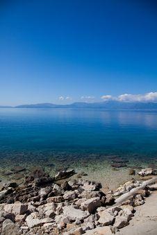 Greek Coastline Stock Photo
