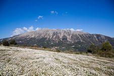 Mountains On Lefkada Island Royalty Free Stock Photo