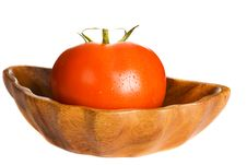 Free Tomato In Wooden Bowl Stock Photo - 15181880