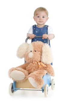 Free Infant With His Toy Stock Photo - 15182080