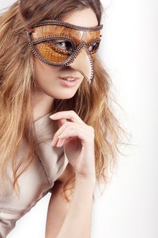 Free Girl With The Venetian Mask Stock Images - 15182294