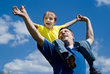 Happy Father With His Son Royalty Free Stock Photos
