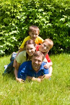 United Family At The Nature Stock Photography