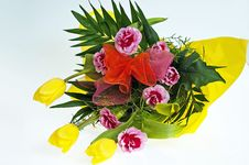 Free Bunch Of Yellow Tulips Stock Photos - 15182873