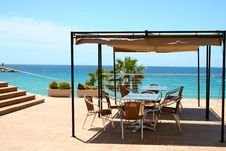 Free Beautiful Terrace By The Sea Royalty Free Stock Photos - 15182888