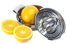 Free Orange And Manual Juicer Stock Images - 15182964