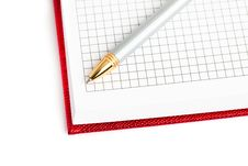 Notebook With Silver Pen Royalty Free Stock Photos