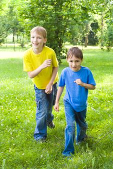 Free Happy Children  In The Summer Stock Photo - 15183100