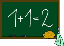 Free Blackboard 1+1=2 Royalty Free Stock Photography - 15183337