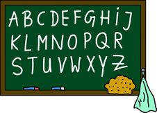 Free Blackboard Alphabet Royalty Free Stock Image - 15183356
