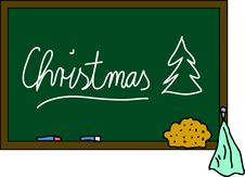 Free Blackboard Christmas Stock Photography - 15183362