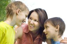 Free Happy Boys With Mom Stock Photos - 15183393