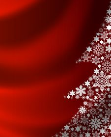 Free Red Christmas Tree Background Royalty Free Stock Images - 15183449