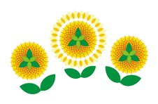 Free Decorative Sunflowers Royalty Free Stock Image - 15183466