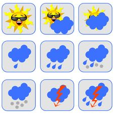 Free Weather Symbols Royalty Free Stock Image - 15183496