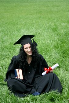 Happy Bachelor With Diploma Royalty Free Stock Image