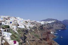 Free Santorini Island Royalty Free Stock Image - 15184176