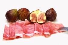 Free Fresh Fig With Ham Royalty Free Stock Photo - 15184245