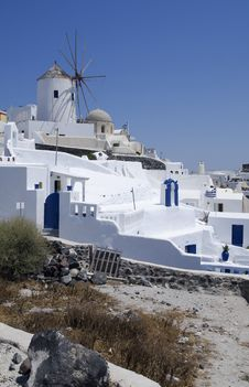 Free Windmill In Santorini Island Stock Photography - 15184282