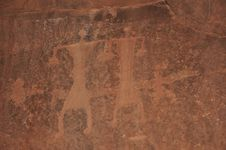 Free Wadi Rum People Petroglyph Royalty Free Stock Photography - 15185667