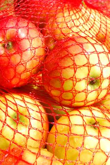 Apples In Sack Stock Photography