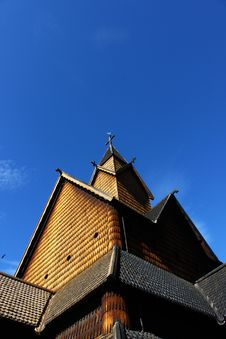 Free Heddal Stave Church Peak Royalty Free Stock Photos - 15187298