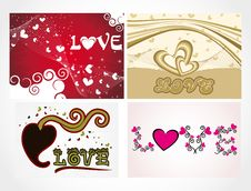 Free Various Colorful Heart Background Set For Your Des Stock Photography - 15187462